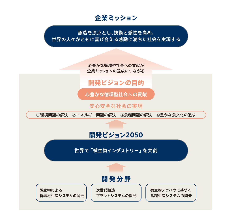 中長期的な成長方向を描いた開発ビジョン2050